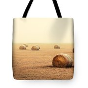Bales In The Fog Tote Bag