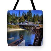 Balfour Bc Docks And Ferry  Tote Bag