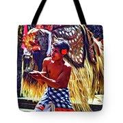 Bali Barong And Kris Dance  - Paint Tote Bag