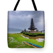 Bali Lake Temple Tote Bag