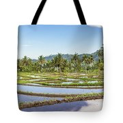 Bali Rice Paddies Tote Bag
