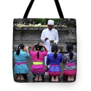 Bali Temple Women Blessing Tote Bag