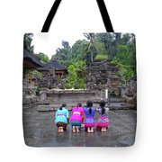 Bali Temple Women Bowing Tote Bag