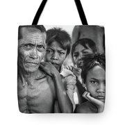 Balinese Gothic Bw Tote Bag