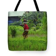 Balinese Lady Carrying Pot Tote Bag