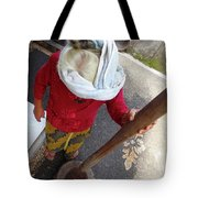 Balinese Lady Grinding Coffee Tote Bag