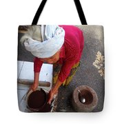 Balinese Lady Sifting Coffee Tote Bag