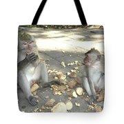 Balinese Monkeys Eating Tote Bag