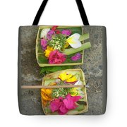 Balinese Offering Baskets Tote Bag