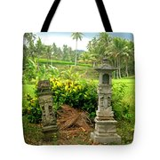 Balinese Rice Field Shrines Tote Bag