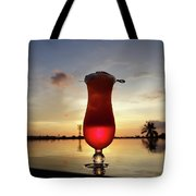 Balinese Sunset With Red Drink Tote Bag