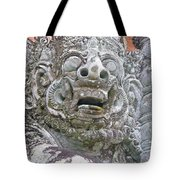 Balinese Temple Guardian Tote Bag