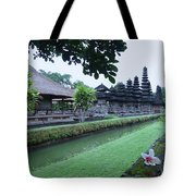 Balinese Temple With Flower Tote Bag