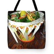 Balinese Traditional Dinner Basket Tote Bag