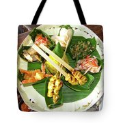 Balinese Traditional Satay Dinner Tote Bag