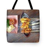 Balinese Traditional Satay Tote Bag