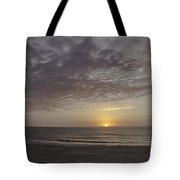 Ball Of Gold On The Horizon Tote Bag