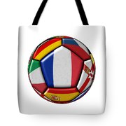 Ball With Flag Of France In The Center Tote Bag