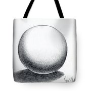 Ball With Shadow Tote Bag
