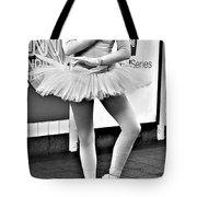 Ballerina B W Tote Bag