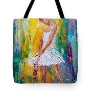 Ballerina Before The Dance Tote Bag