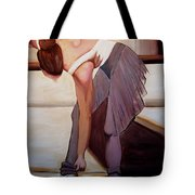 Ballerina Bending Over Tote Bag