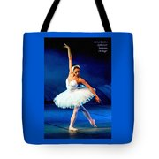 Ballerina On Stage L A Nv Tote Bag