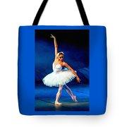 Ballerina On Stage L B Tote Bag