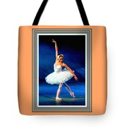 Ballerina On Stage L B With Alt. Decorative Ornate Printed Frame. Tote Bag
