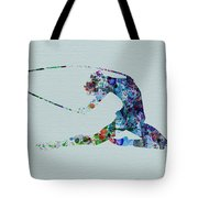 Ballerina On The Stage Tote Bag by Naxart Studio