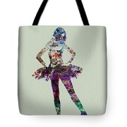 Ballerina Watercolor Tote Bag by Naxart Studio