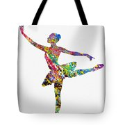 Ballet Dancer-colorful Tote Bag