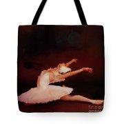Ballet Dancer In White  Tote Bag