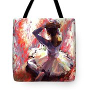 Ballet Dancer Siting  Tote Bag