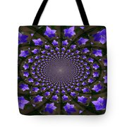 Balloon Flower Kaleidoscope Tote Bag