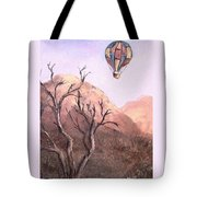 Balloon Over Desert Tote Bag