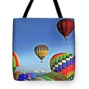 Ballooning Above Longs Peak Tote Bag