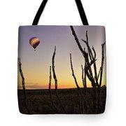 Ballooning At Sunset Tote Bag