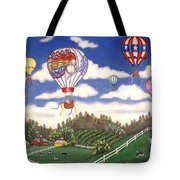 Ballooning Over The Country Tote Bag