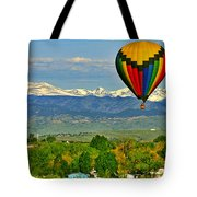 Ballooning Over The Rockies Tote Bag