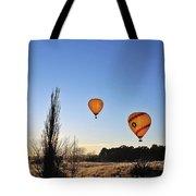 Balloons At Sunrise Tote Bag