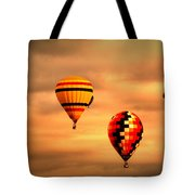 Balloons In The Morning Tote Bag
