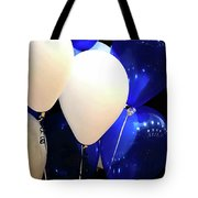 Balloons Of Blue And White Tote Bag