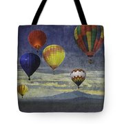 Balloons Over Sister Mountains Tote Bag