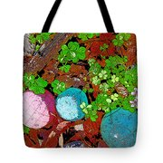 Balls And Clover Tote Bag