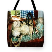Balls Of Cloth Strips In Basket Tote Bag