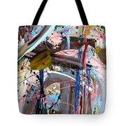 Balmy Nights Abstract Tote Bag