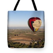Baloon Riding  Over Temecula Ca Tote Bag
