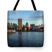 Baltimore Inner Harbor Sunrise Tote Bag