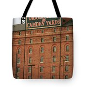 Baltimore Orioles Park At Camden Yards #2 Tote Bag by Frank Romeo